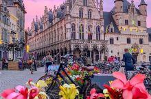比利时的清晨落日