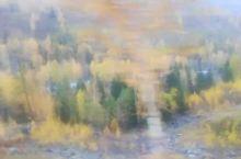 新疆的秋色(喀纳斯景区观光车上拍摄