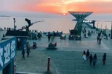 打卡鲅鱼圈山海广场