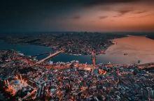 一座城市两个大洲 航拍世界著名旅游胜地伊斯坦布尔繁华两岸