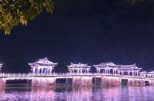 潮州广济桥的灯光秀,还有悦耳的音乐,很不错!很有吸引力