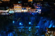 芙蓉镇瀑布夜景