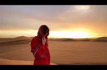 腾格里沙漠红裙美拍