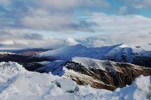 南阿尔卑斯山脉,雪山,青草,没有喇嘛庙