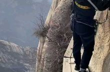 华山的长空栈道,最值得挑战的地方,绝对不