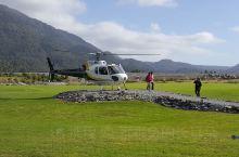 新西兰南岛,直升机上雪山