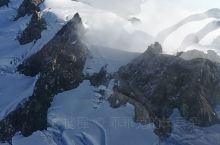 新西兰南岛,直升机上眺望雪山