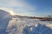 黑龙江省。大兴安岭岭加格达奇。冰天雪地