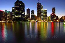 布里斯班河边看夜景