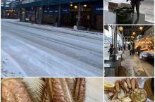 冬季去看雪 北海道 札幌 二条市场