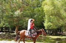 美丽的骑马姑娘