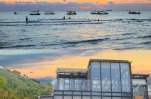 海边落日玻璃房南澳岛浪漫森系风民宿