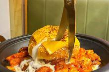 武汉首家🔥瀑布奶油铁板鸡🧀巨巨好吃