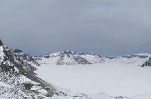 长白山西坡天池覆雪景观