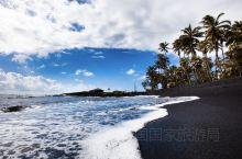 玩美旅行画报 夏威夷普纳鲁吾黑沙滩
