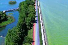 夏天到了来无锡贡湖湾走一走彩虹跑道