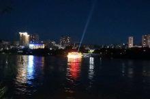 兰州黄河边上的夜景