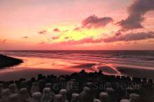 海天一線,夕陽無限迷人!