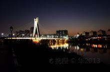 桃江夜映圣塔桥