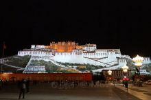 西藏布达拉宫夜景