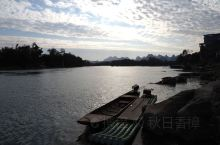 桂林灵川大圩古镇,夕阳下的晚霞美如诗!