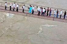 打卡四川泸定桥,大渡河的水依然很急