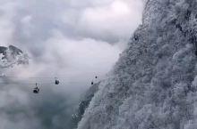 雪中的天门山索道