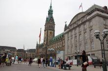 德国海港城市汉堡市中心。