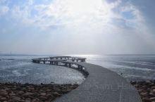 豔陽下的賞蟹步道,東北季風的吹拂下,門可羅雀的遊客數量......