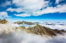 达古冰川,观云海
