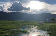 伊拉草原营地雨后抓鱼