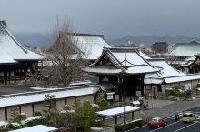 雪后的本愿寺,很难拍到的角度,可以给个小❤️么?
