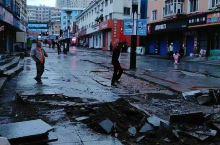 黑龙江省;绥芬河市,龙须沟步行街大雨过后