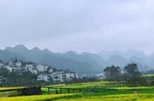 山间雾茫茫,房屋紧靠在云雾之间,住在这里应该是空气特别好的