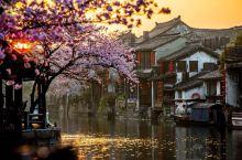 #旅行家派对 西塘·黄昏时分 云霞倒映在西塘大大小小的河里·色彩斑斓如油画!