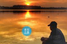 万象湄公河畔,朝阳晚霞相伴