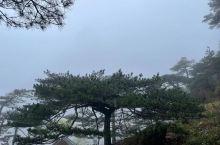 雾霭中的黄山
