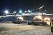吉林松花湖滑雪场,夜场更精彩