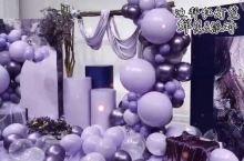 迪拜 神秘紫色气球鲜花梦幻派对