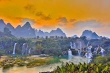 广西德天瀑布,亚洲第一、世界第四大跨国瀑布,年均水流量约为贵州黄果树瀑布的三倍