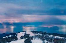 绝美日落藏于洞爷湖的冬天