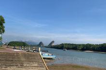 甲米镇的湖