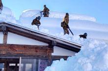 屋顶上除雪