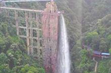 云门山世界上最大的电梯观景瀑布,一个敢设