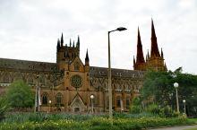 打卡澳洲最大的教堂悉尼圣母大教堂。
