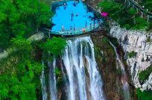 一个双层瀑布的滴水崖!