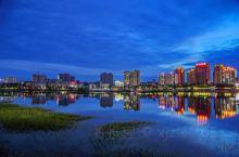 河南内乡小城夜景