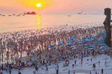 北海银滩万人看日落