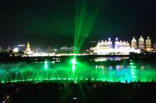 夜晚江边的声光电,太漂亮了!