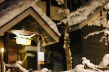 #冬日夜晚梦幻浪漫的森林精灵露台
